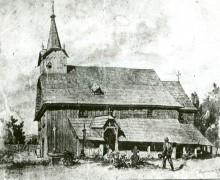 11.Kresba starého dřevěného kostelíka