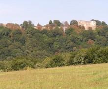 1. celkový pohled na hrad Hukvaldy