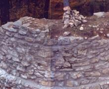 6.Foto odkrytého bergfritu hradu