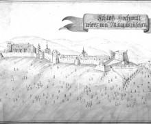 7. Kresba hradu A. Kybasta z roku 1818 (ÚŘAS Olomouc)