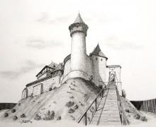 9.Rekonstrukce vstupní části hradu dle J. P. Štěpánka